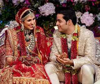Watch: Akash-Shloka take 'pheras', Mrs Mehta gets emotional