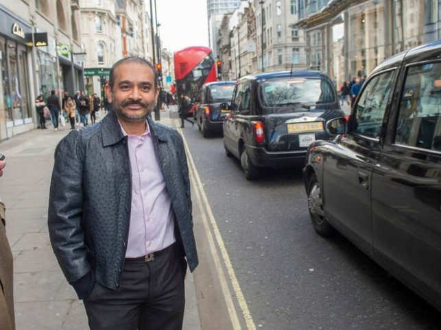Nirav Modi was wearing a £10,000 ostrich hide jacket when he was confronted in the street by the Telegraph reporter​