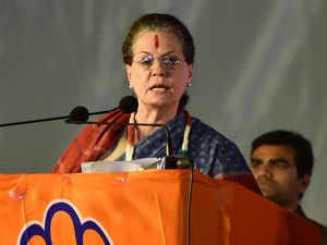 Sonia Gandhi accuses PM Modi of playing 'victim card'