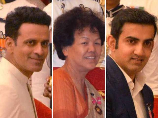 Manoj Bajpayee, Bachendri Pal and Gautam Gambhir
