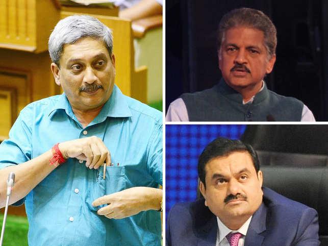India Inc remembers Parrikar as a 'true leader'; Anand Mahindra, Adani tweet tribute to Goa CM