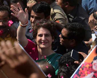 Priyanka Gandhi rides boat to test political waters in Uttar Pradesh