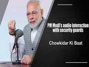 Watch: PM Modi's audio interaction with security guards across the country