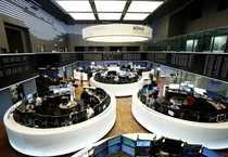 Traders work at Frankfurt's stock exchange in Frankfurt