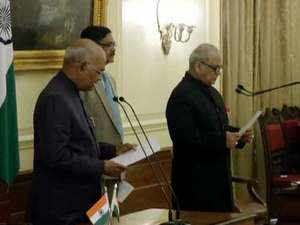Watch: Justice Pinaki Chandra Ghose takes oath as first Lokpal