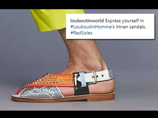 c44f00c760ce Christian Louboutin removes  Imran Sandals  after receiving flak from  social media