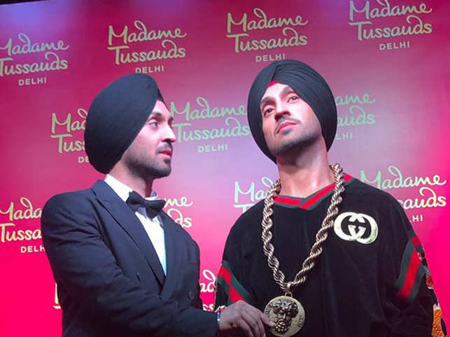 Diljit unveils his wax figure at Madame Tussauds Delhi