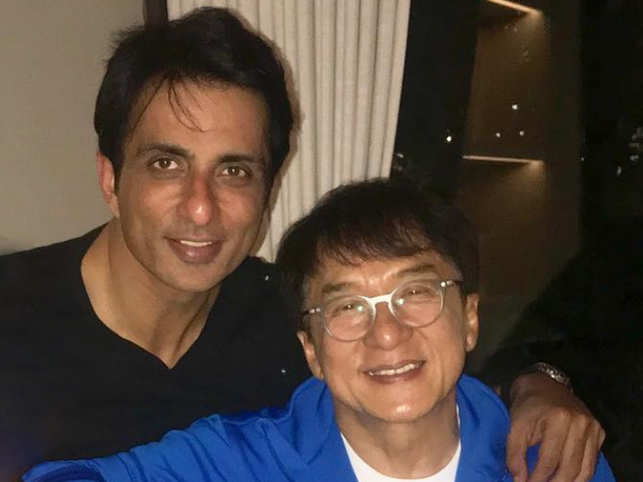 Sonu Sood and Jackie Chan (R)