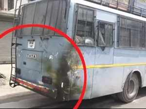 CRPF convoy hit by a car in Jammu highway, No casualties reported