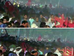 Watch: Chaos at PM Modi's rally in Bihar's Gaya, angry attendees hurl chairs
