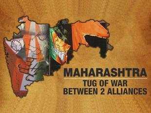 Maharashtra: Big battle between BJP-Shiv Sena and Cong-NCP