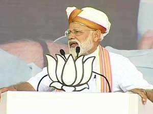 Modi at Latur: Congress responsible for creation of Pakistan