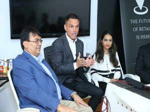 Kevin Harrington from Shark Tank (center)and the Co-founder of The New Shop Aastha Almast (Right)