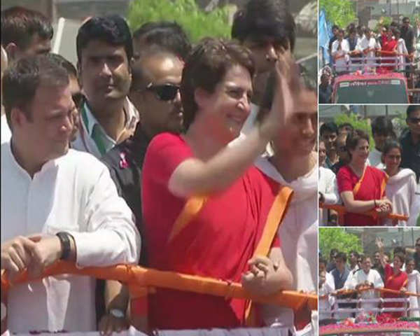 Watch: Rahul Gandhi holds mega road show in Amethi, as he files nomination  papers