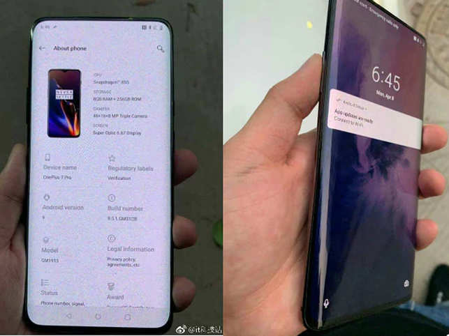 oneplus 7 pro: Leaked! OnePlus 7 Pro likely to sport a curved OLED