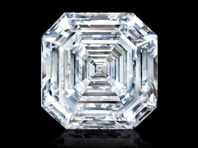 World's largest square emerald cut diamond, a 302 37-carat