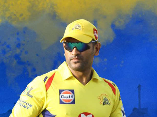 MS Dhoni  was seen angrily gesturing at the umpire.