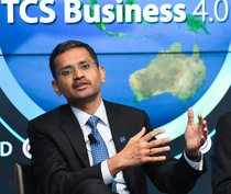 Mumbai: TCS CEO and MD Rajesh Gopinathan speaks during a press conference to ann...