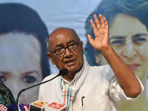 Ex-MP CM Digvijaya Singh files papers for Bhopal LS seat