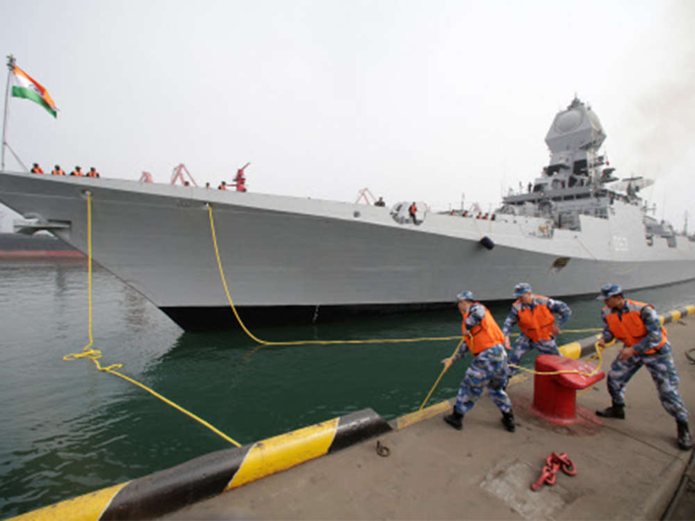 Indian naval ships arrive for Chinese Navy fleet review, Pakistan to miss