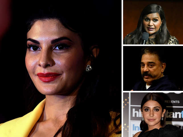 From left  (clockwise): Jacqueline Fernandez, Mindy Kaling, Kamal Haasan & Anushka Sharma