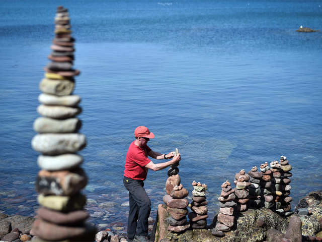 Here S How Stone Stackers Defy Gravity At European Championships Stacking The Economic Times