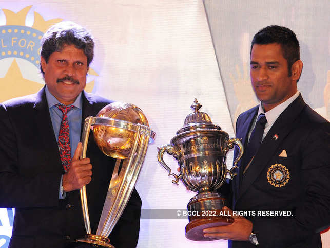 Kapil Dev and MS Dhoni