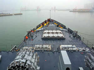 Indian battle ships take part in Chinese navy's biggest fleet review, Pakistan gives it a miss