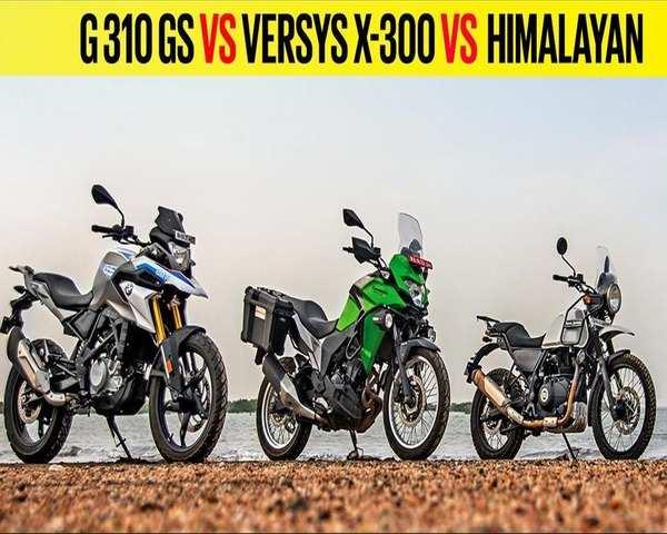Autocar Show Bmw G 310 Gs Vs Kawasaki Versys X 300 Vs Royal Enfield