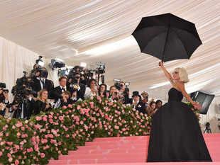 Lady Gaga posing for the shutterbugs