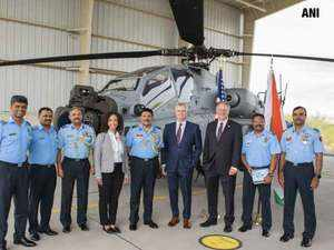 Watch: IAF receives its first Apache Guardian attack helicopter