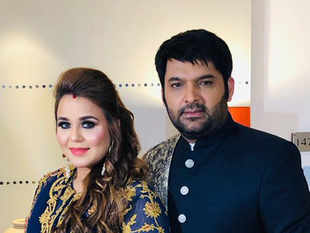 Kapil Sharma and his long-time girlfriend Ginni Chatrath (L) got married  in December last year.