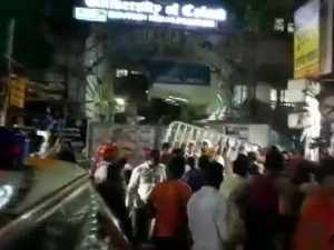 Violence erupts at Amit Shah's roadshow as students clash with BJP workers