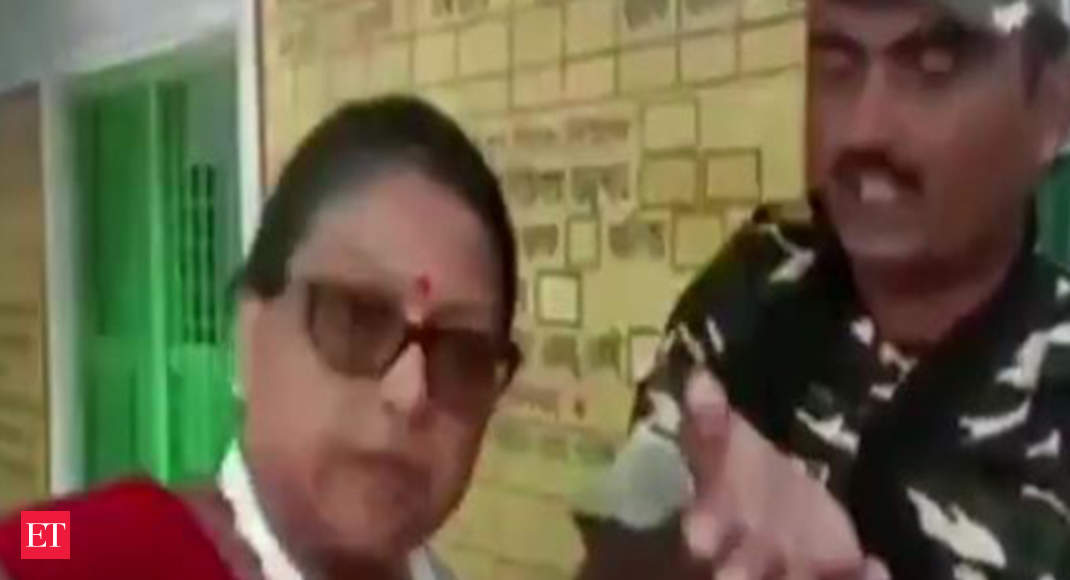 TMC Candidate Kakoli Ghosh's caught arguing with Central Forces