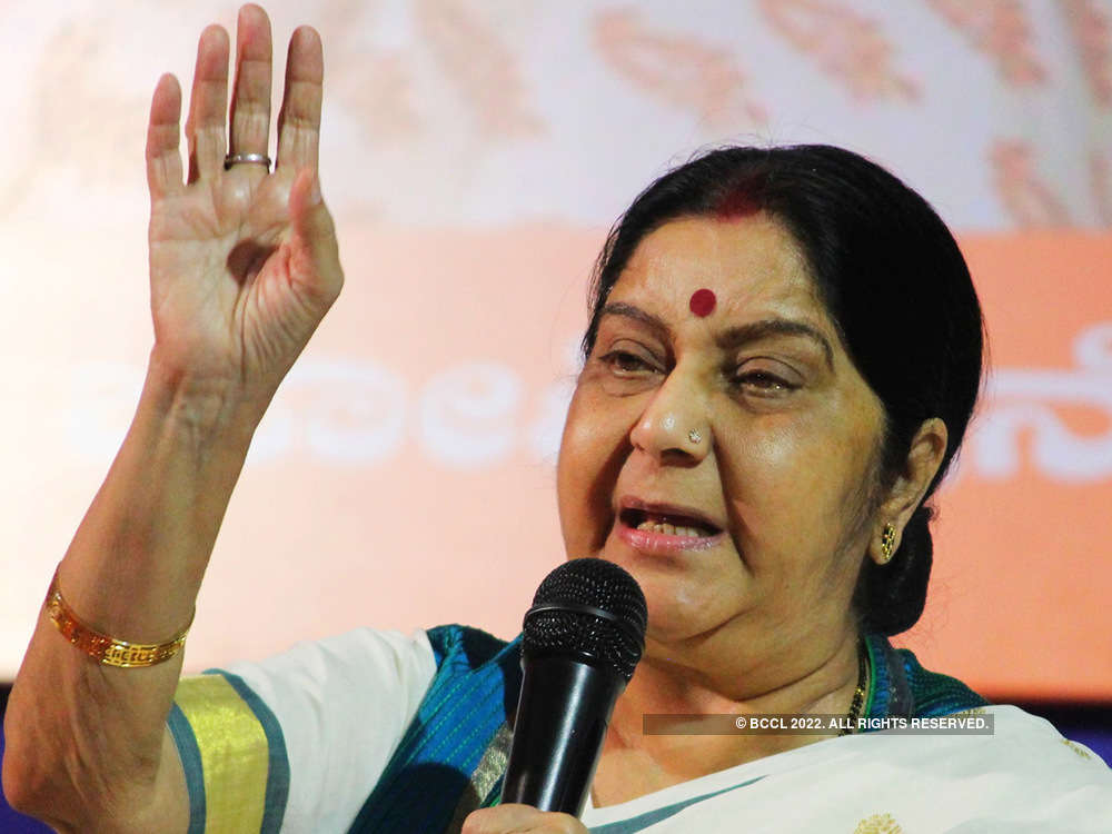 Swaraj meets Chinese counterpart, discusses issues of bilateral interest