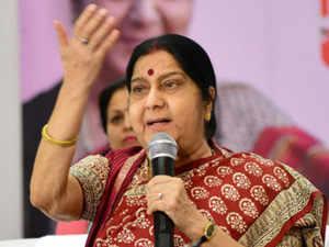 Swaraj congratulates Modi for 'big win'