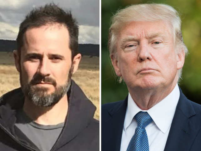 "Ev Williams (L) said that ""What Donald Trump (R) has done with Twitter is pretty genius, frankly""."
