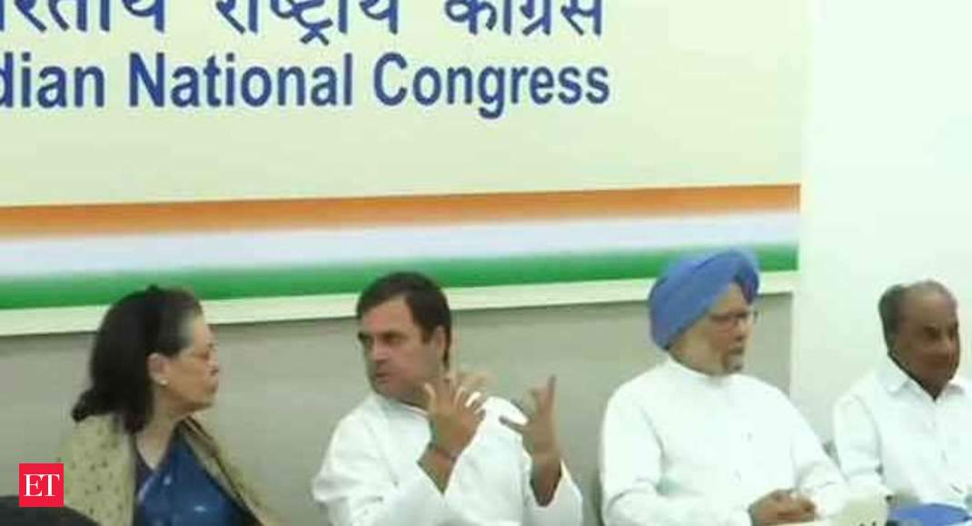 Watch: Congress Working Committee begins meeting to review poll debacle