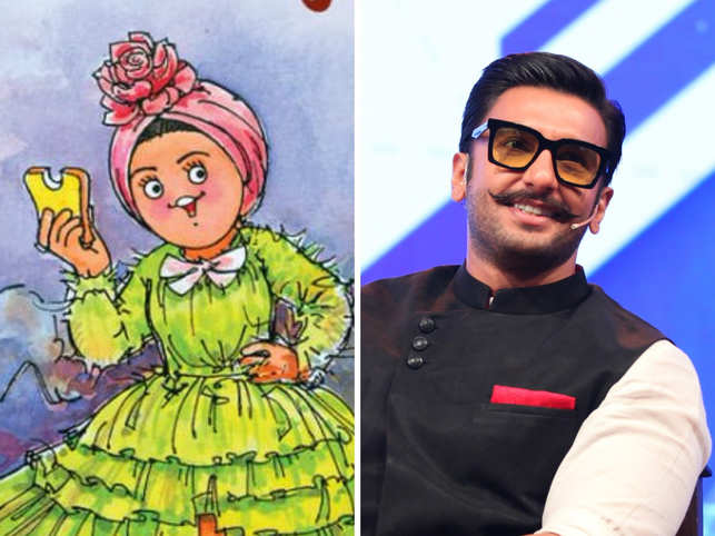 Amul Girl made Deepika Padukone's illustration in the bright green ruffled gown.