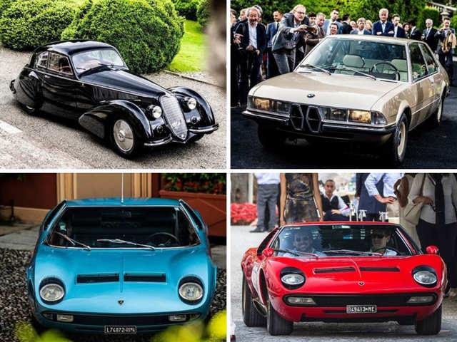 Princess Grace's Lamborghini, Elvis Presley's BMW: Luxury drives steal the show at Lake Como