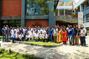 45 startups of Lab32 second batch with T-Hub CEO.