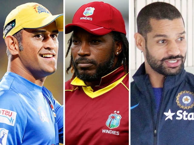 MS Dhoni, Chris Gayle & Shikhar Dhawan, and their supercars steal the show