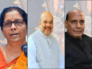Cabinet Ministers Amit Shah Gets Home Ministry Nirmala Sitharaman Finance And Defence Rajnath Singh