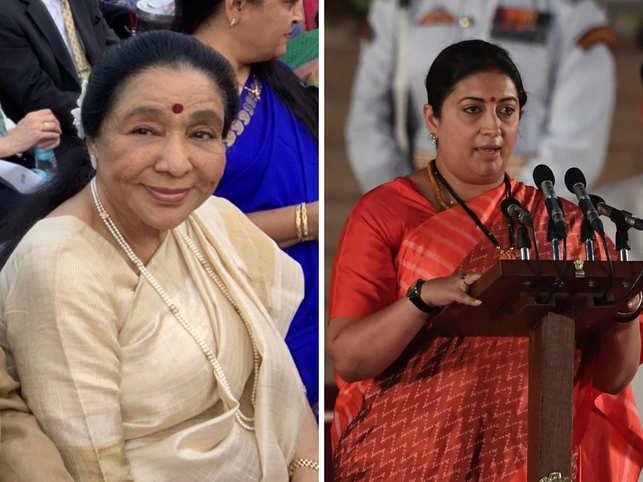 Asha Bhosle: Smriti Irani helps a 'stranded' Asha Bhosle at