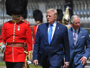 Donald Trump arrives in UK for three-day state visit