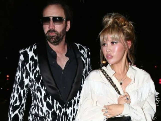 Nicolas Cage (L) had claimed the union was based on fraud, because Erika Koike (R) didn't disclose her criminal history.