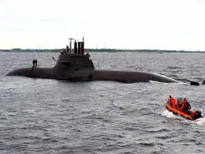 Navy carries out submarine rescue trial - The Economic Times