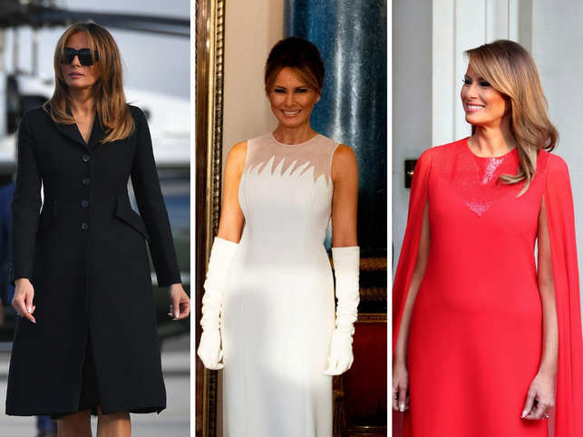 US President Donald Trump and first lady Melania Trump are currently on their state visit to the United Kingdom. From dining with the royals to exploring Downing Street 10 with British Prime Minister Theresa May and her husband Philip, their visit made headlines around the world. However, one of the highlights of the three-day tour was the first lady's UK-inspired wardrobe.From Gucci to Givenchy, Mrs Trump opted for expensive brand labels again and left the world stunned with every look.