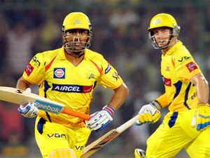 dhoni-hussey-BCCL