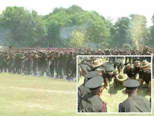 Watch: Cadets at IMA in Dehradun celebrate after their passing out parade
